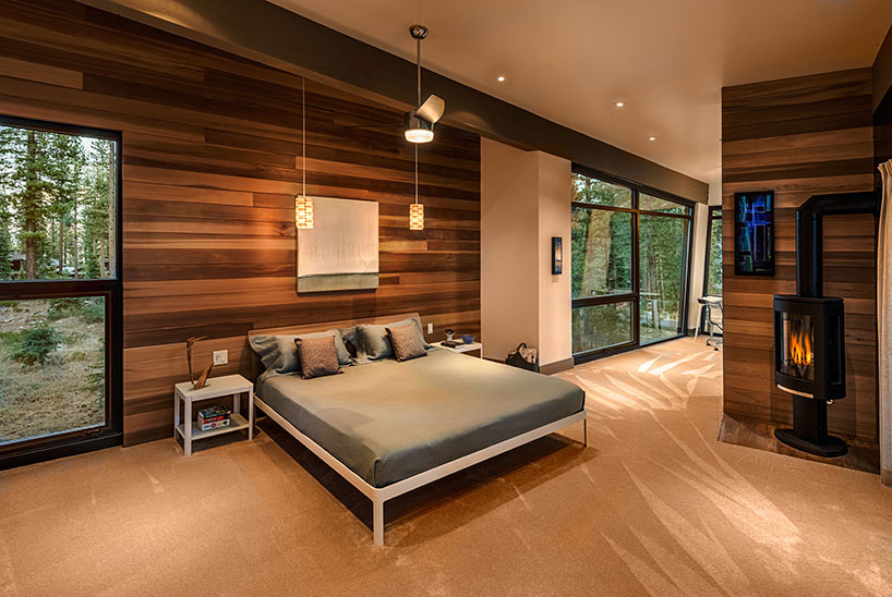 Luxurious Masculinity With Forest Views Bedroom Decoration