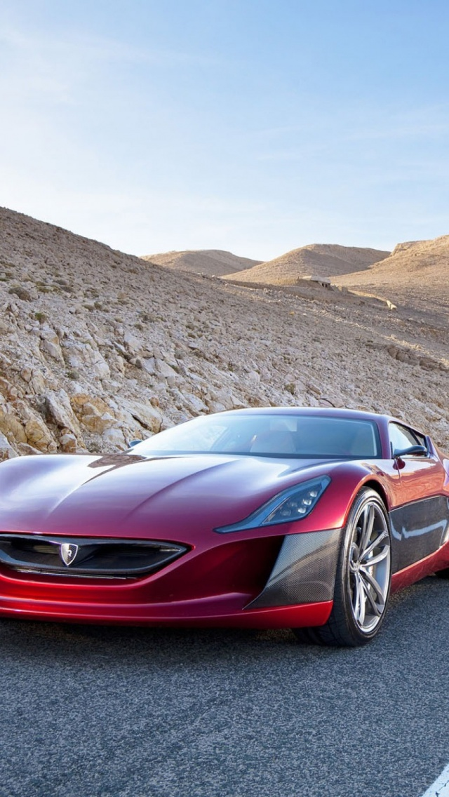 Rimac Concept One Superkar Car iPhone 6 6S Wallpapers Background