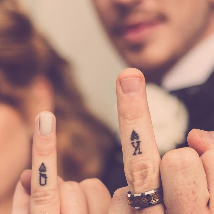 20 Couples Matching Wedding Tattoos for Honoring Their Marriage Vows Visually