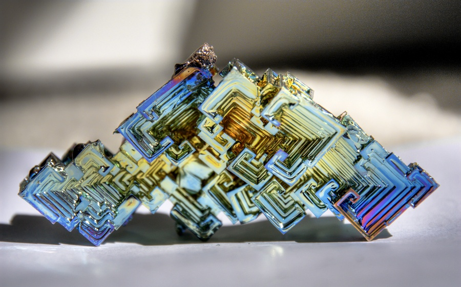 A bismuth crystal