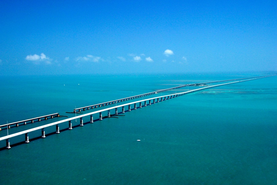 A road bridge in Florida, USA, which is nearly 11 km long