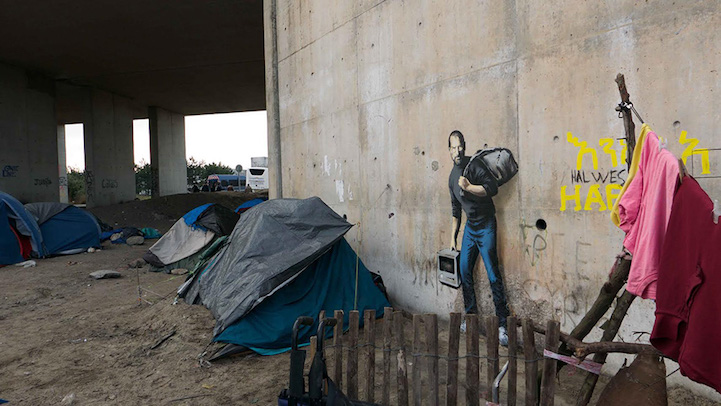 Banksy Steve Jobs artwork to highlight Syria refugee crisis 2