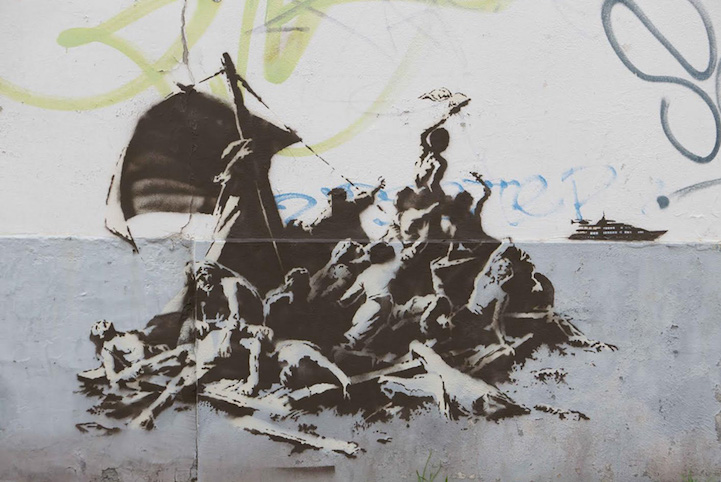 Banksy artwork to highlight Syria refugee crisis 7
