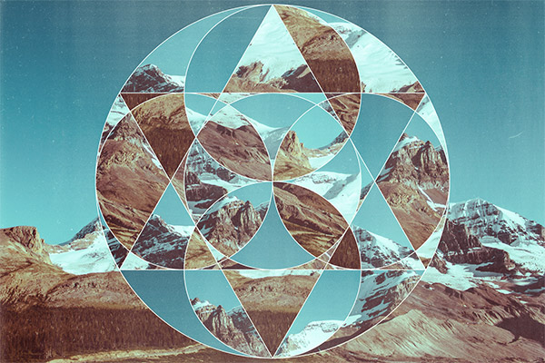 Create Abstract Geometric Photo Collage Ar