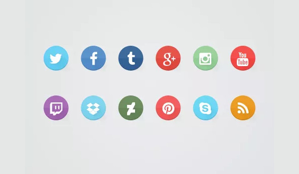 Create Some Flat Social Media Icons In Photoshop