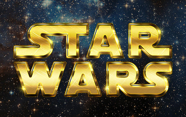 Create a Retro Star Wars Inspired Text Effect in Photoshop