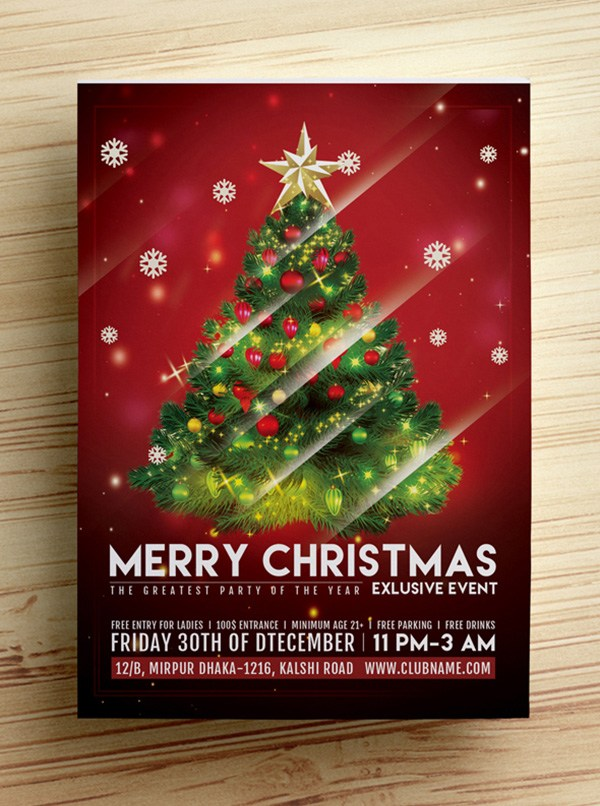 Free Christmas Party Flyer Template 2