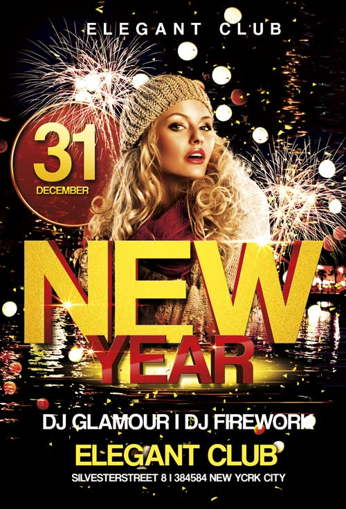 Free New Year Club Flyer Template