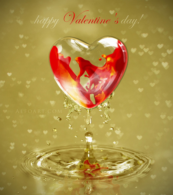 How To Create A Valentine Day Card in Adobe Photoshop