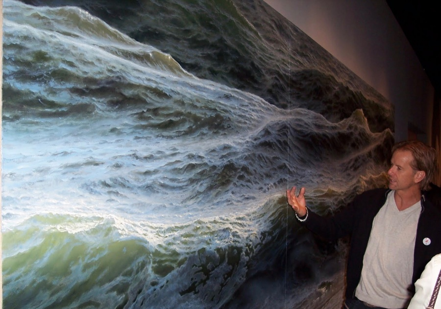 Open Water painting by Ran Ortner, oil on canvas