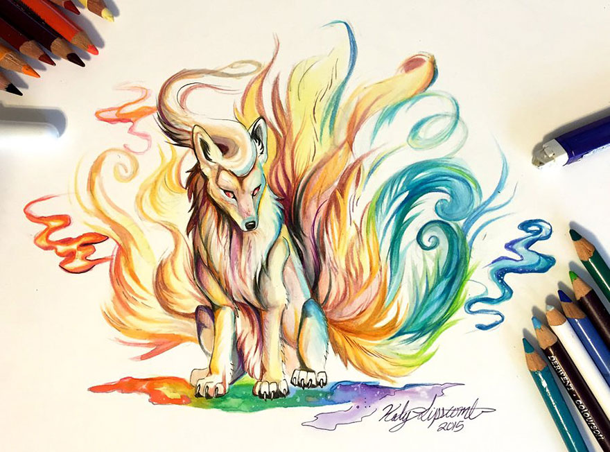 Pencil And Marker Illustrations of Wild Animal Spirits By Katy Lipscomb 10