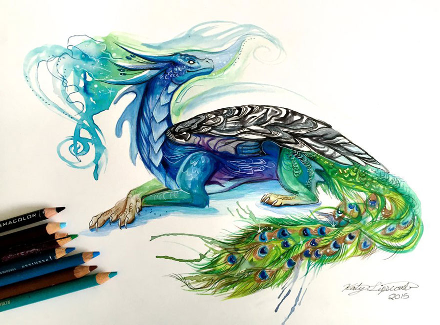 Pencil And Marker Illustrations of Wild Animal Spirits By Katy Lipscomb 11
