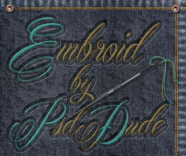 Sewing Embroidery Effect In Photoshop