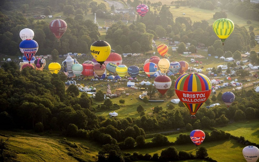 The International Balloon Fiesta in Bristol, UK