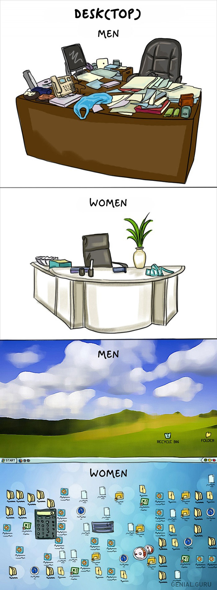 Women VS Men Comic Illustration 10