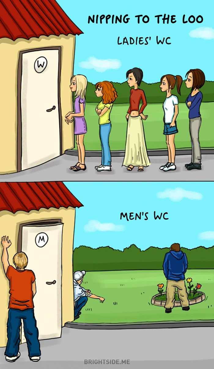 Women VS Men Comic Illustration 5