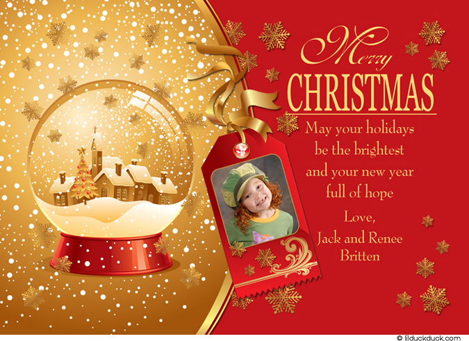 christmas card messages