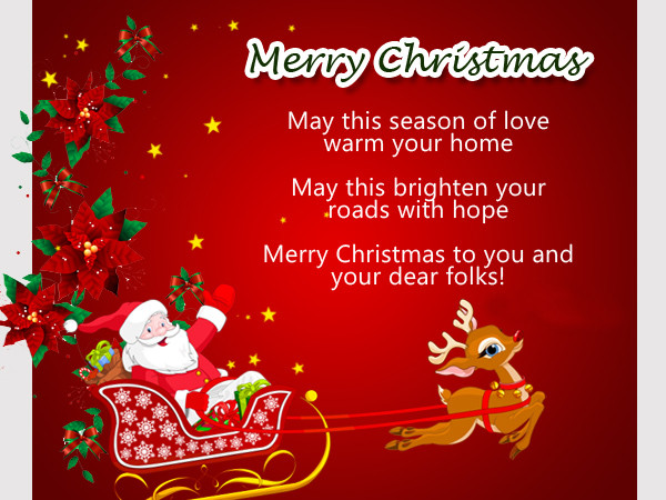 christmas messages from santa