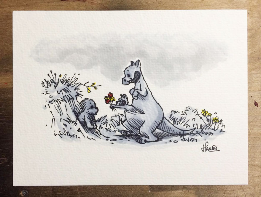 Illustrations Imagine Star Wars Characters As Winnie The Pooh And Friends 10
