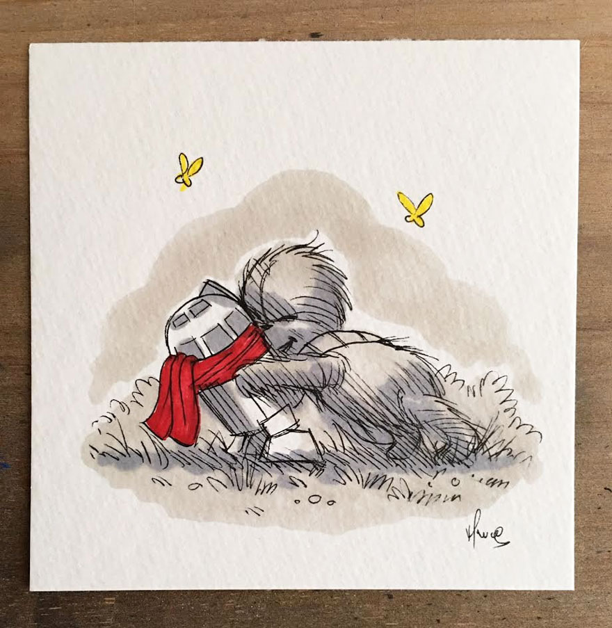 Illustrations Imagine Star Wars Characters As Winnie The Pooh And Friends 12