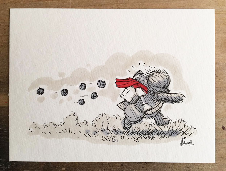 Illustrations Imagine Star Wars Characters As Winnie The Pooh And Friends 15