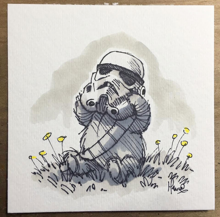 Illustrations Imagine Star Wars Characters As Winnie The Pooh And Friends 2