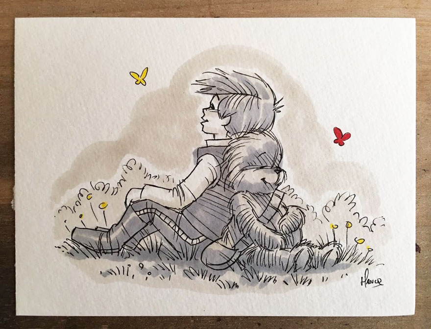 Illustrations Imagine Star Wars Characters As Winnie The Pooh And Friends 4