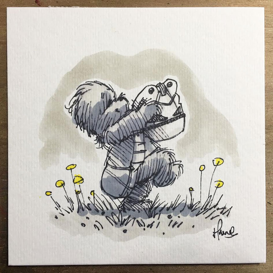 Illustrations Imagine Star Wars Characters As Winnie The Pooh And Friends 5