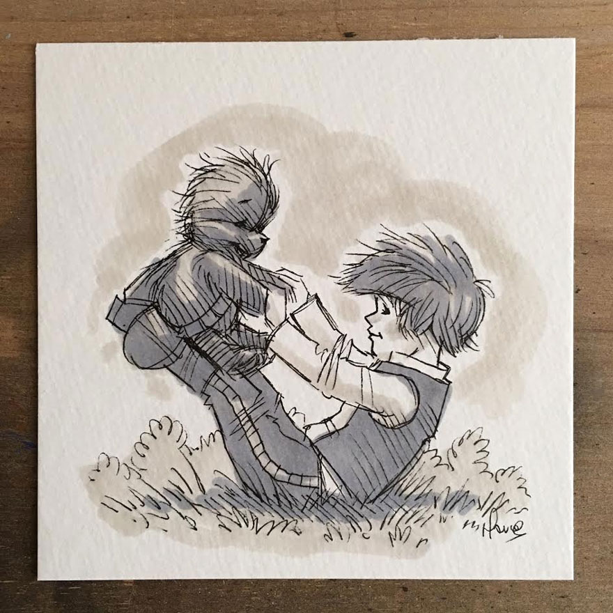Illustrations Imagine Star Wars Characters As Winnie The Pooh And Friends 8