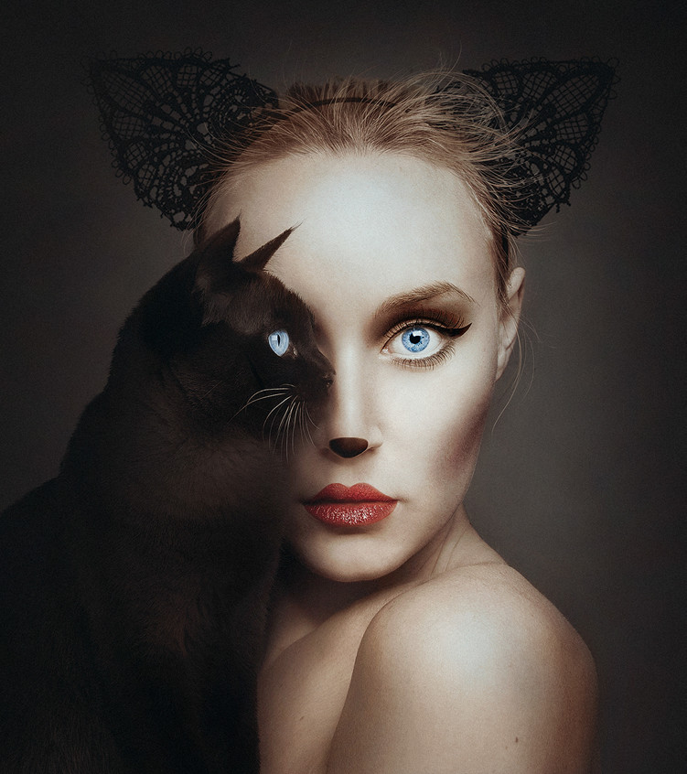 Self-Portraits Replace One Eye with an Animal 1