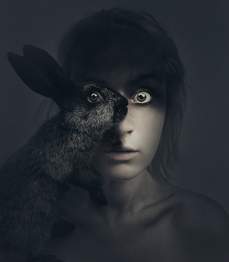 Self-Portraits Replace One Eye with an Animal 3