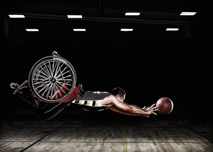These images were created for the Rehabilitation Institute of Chicago's Adaptive Sports Program and the RIC Hornets wheelchair basketball team.