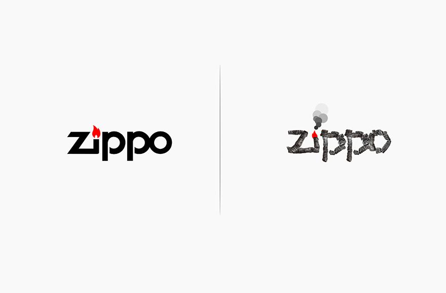 Famous Logos Affected By Their Products Funny Rebranding Marco Schembri 7