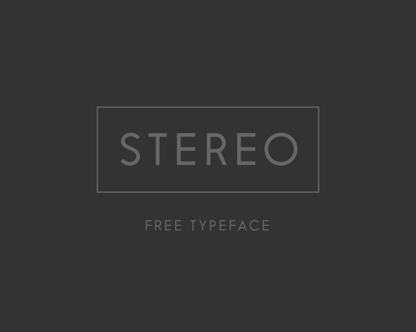 Stereo free font