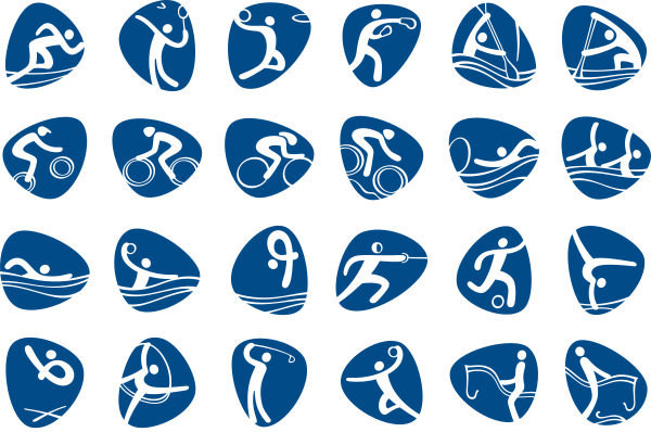 Summer Olympics 2016 Pictograms Logo