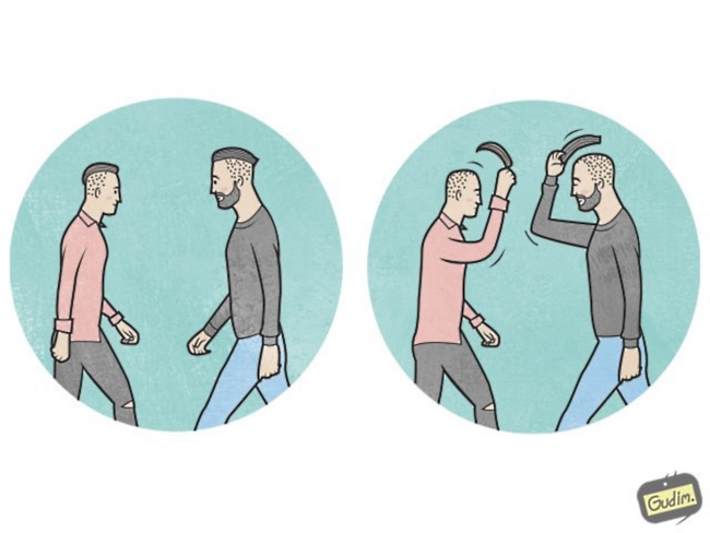 clever life illustrations by anthony gudim 4