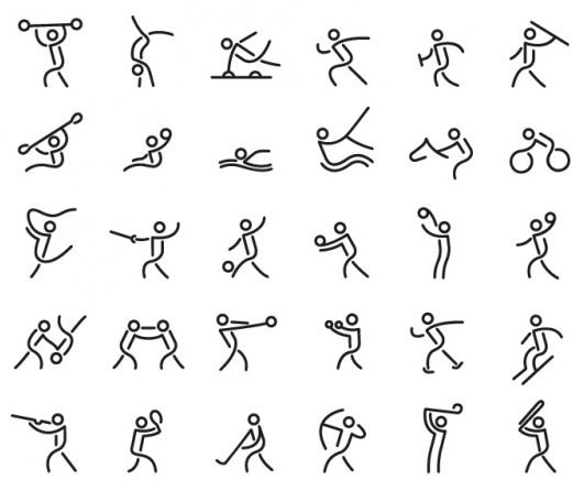 inline-sport-icon-pictogram