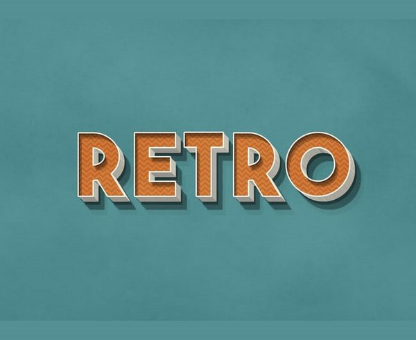 Create 3D Retro text effect in Photoshop
