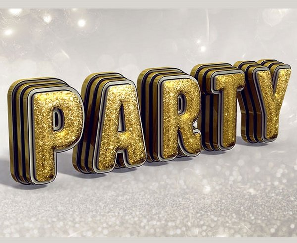 How to Create Glittering, Festive, 3D Text Effect in Adobe Photoshop