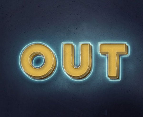 Create a 3D, Glowing, Retro Text Effect in Adobe Photoshop