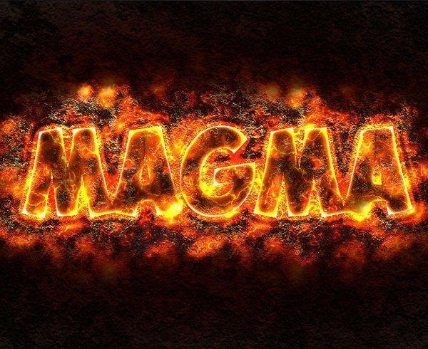 Magma or Lava Text Effect in Photoshop
