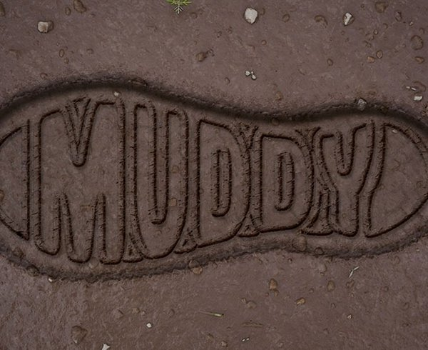 Muddy Boot Print Text Effect