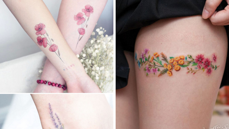 20 Most Beautiful Floral Tattoos for Your Inspiration