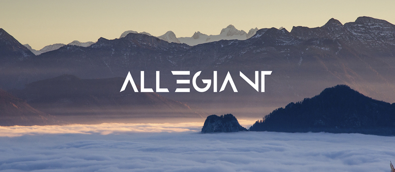 Allegiant uppercase abstract font