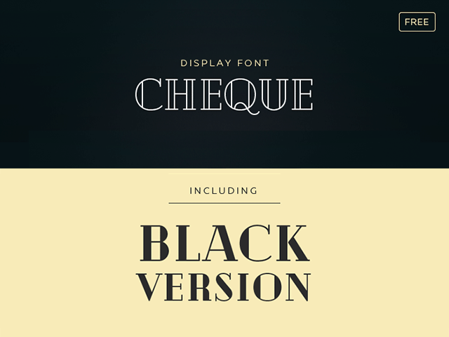 Cheque free font vintage look