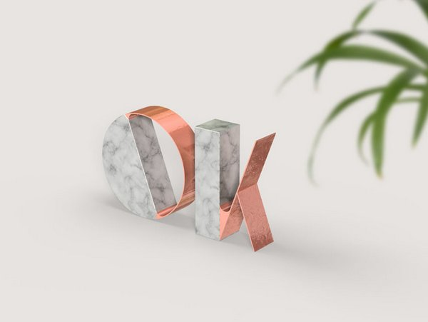 Trendy Marble and Rose Gold Text Effect Photoshop Tutorial