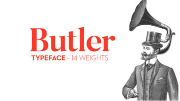 Butler Minimalistic Free Fonts Download for Design Projects