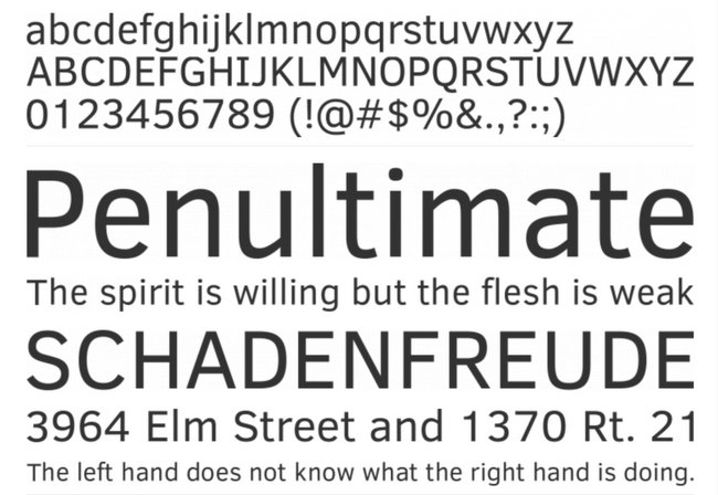 Clear Sans Minimalistic Free Fonts Download for Design Projects