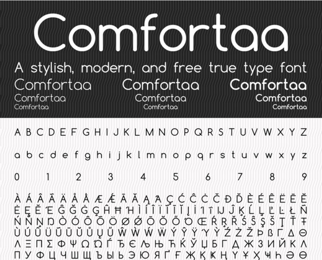 Comfortaa Minimalistic Free Fonts Download for Design Projects