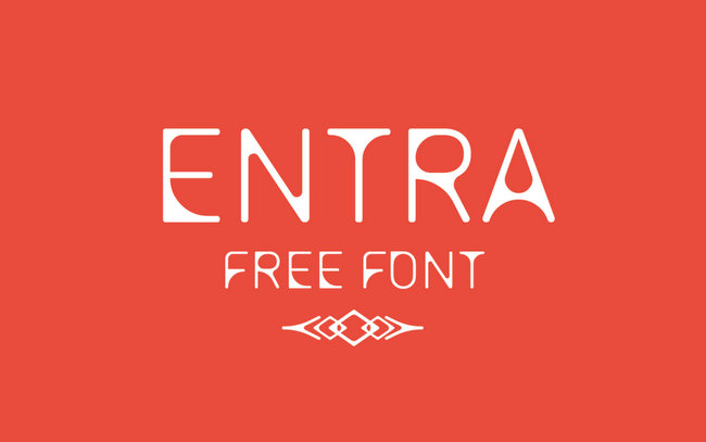 Entra Minimalistic Free Fonts Download for Design Projects